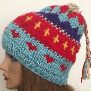 Hand Knits 2 Love Beanie Hat Slouch Cap Designer